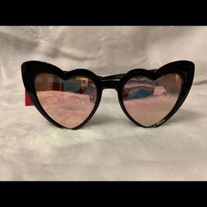 Betsey Johnson Heart Cat eye 52MM Sunglasses